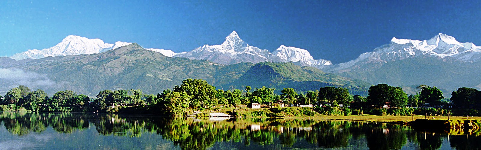 Machhapuchre Shining with Fewa Lake